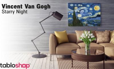 Vincent Van Gogh – Starry Night – Yıldızlı Gece Tablo