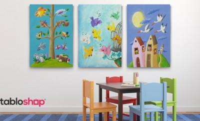 Çocuk ve Bebek Odası Dikey Tablo Galerisi